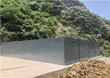贵州MBR一体化污水处理设备安装现场