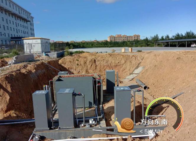 内蒙古mbr一体化污水处理设备安装现场